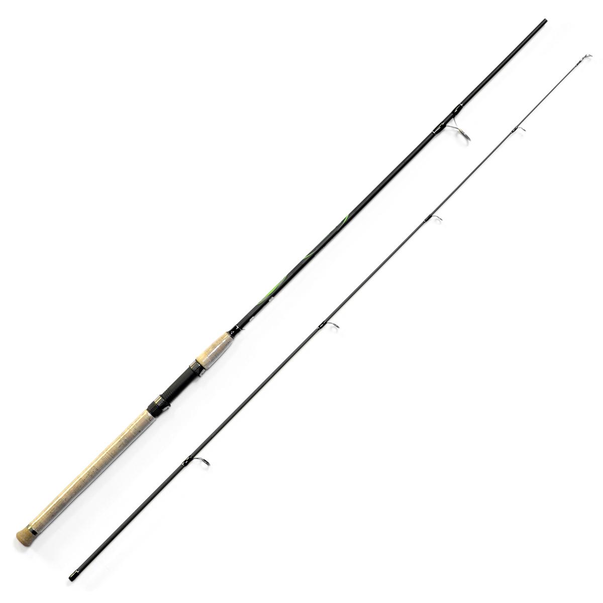 Спиннинг Salmo Sniper SPIN 30 2.40, длина 2,4м, 10-30гPGPS7797CIS08GBNVУниверсальный спиннинг средне-быстрого строя для ловли на различные приманки, изготовленный из композита. Бланк спиннинга укомплектован облегченными кольцами на высоких ножках со вставками SIC и элегантной рукояткой с пробковым покрытием и облегченным буфером на торце. Соединение колен спиннинга по типу OVER STEEK. Все спиннинги имеют одинаковый тест 10-30 г.- Материал бланка удилища – композит- Строй бланка средне-быстрый- Класс спиннинга M- Конструкция штекерная- Соединение колен типа OVER STEEK- Кольца пропускные:– облегченные большие– со вставками SIC– с расстановкой по классической концепции- Рукоятка:– пробковая- Катушкодержатель:– винтового типа- Проволочная петля для закрепления приманок