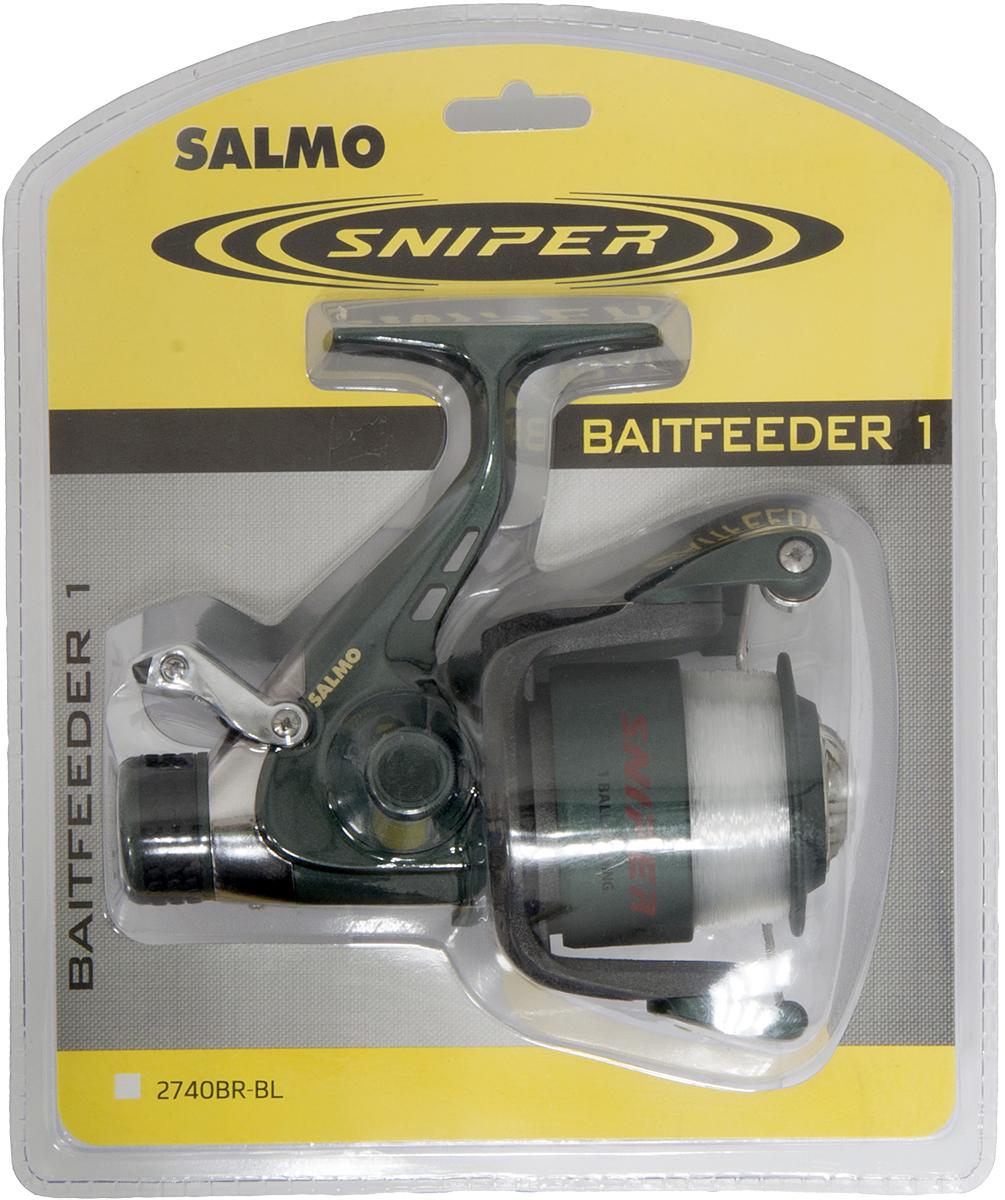 Катушка безынерционная Salmo Sniper BAITFEEDER 1 40BR, цвет: серыйFABLSEH10002Специализированная катушка, предназначенная для ловли рыбы на донные оснастки. Мощная среднескоростная катушка обеспечивает эффективное вываживание любой попавшейся на крючок рыбы. Система BAITFEEDER, используемая в данной модели катушки, обеспечивает необходимую величину настройки стравливания лески при поклевке рыбы любого размера.- Тормоз фрикционный передний FD- 1 подшипник шариковый- Система стравливания лески с включателем рамочным- Корпус карбопластовый- Шпуля пластиковая (графитовая)- Ролик лесоукладывателя конусный увеличенный (противозакручиватель)- Покрытие износостойкое нитридом титана:- ролика лесоукладывателя- Рукоятка:- с винтовым типом фиксации- с возможностью право/левосторонней установки- Блистерная упаковка