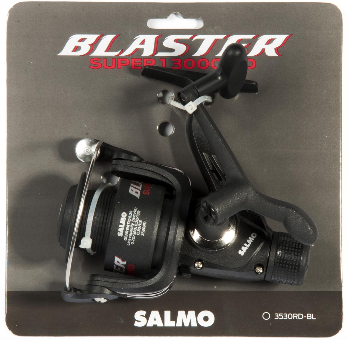 Катушка безынерционная Salmo Blaster SUPER 1 30RD3530RD-BLSalmo Blaster SUPER 1 30RD - бюджетная катушка предназначена, в первую очередь, для начинающих рыболовов. Эта катушка может с успехом использоваться у опытных рыболовов как резервные катушки, так и для комплектации поплавочных удилищ и донных снастей. Особенности: - фрикционный передний FD тормоз, - 1 шариковый подшипник,- нижний флажковый включатель антиреверса,- корпус карбопластовый,- пластиковая шпуля (графитовая),- рукоятка с винтовым типом фиксации и с возможностью право/левосторонней установки,- картонная подложка (для магазинов самообслуживания).