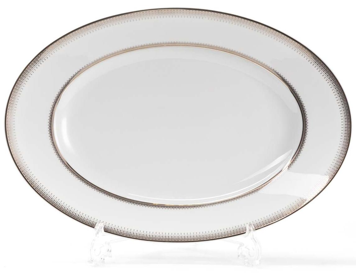 Блюдо La Rose Des Sables Princier Platine, 35 см115510Элегантная посуда класса люкс теперь на вашем столе каждый день. Сделанные из высококачественного материала с использованием новейших технологий, предметы сервировки невероятно прочны и прекрасно подходят для повседневного использования. Классическая форма и чистота линий делает их желанными гостями на любом обеде. Уникальная плотность и тонкость фарфора достигается за счет изготовления его из уникальной глины региона Лимож (Франция). Посуда устойчива к сколам и трещинам благодаря двойному термическому обжигу. Золотой, серебряный декор посуды отличается высоким содержанием настоящего золота и серебра.
