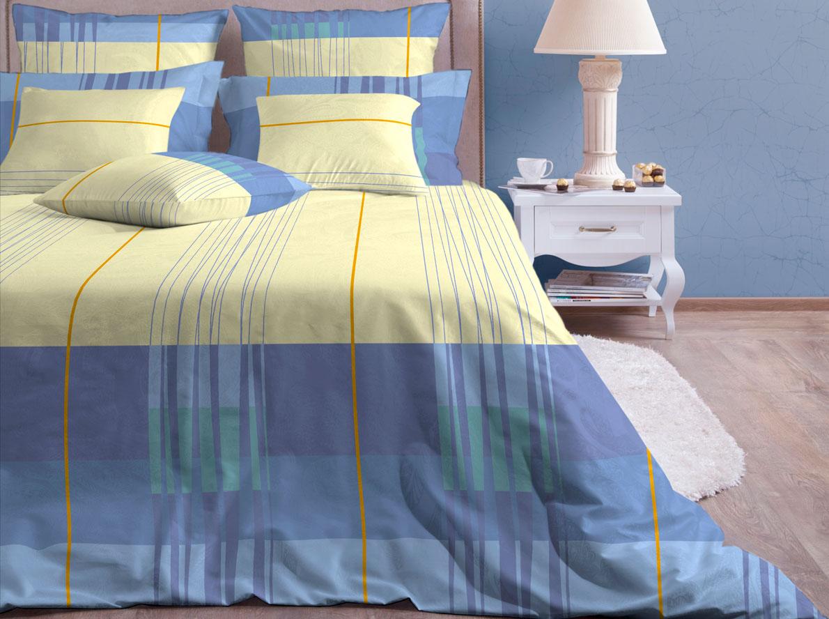 Комплект белья Хлопковый Край Горизонт, 2-спальный, наволочки 70х7020б-1ХКссКомплект постельного белья выполнен из качественной бязи и украшен оригинальным рисунком. Комплект состоит из пододеяльника, простыни и двух наволочек.Бязь представляет из себя хлопчатобумажную матовую ткань (не блестит). Главные отличия переплетения: оно плотное, нити толстые и частые. Из-за этого материал очень прочный и практичный.Постельное белье Хлопковый Край экологичное, гипоаллергенное, оно легко стирается и гладится, не сильно мнется и выдерживает очень много стирок, при этом сохраняя яркость цвета и рисунка.