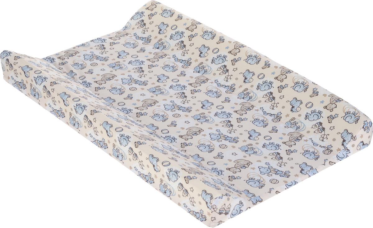 Фея Доска пеленальная Параллель Виниллайт цвет бежевый голубой -  Позиционеры, матрасы для пеленания