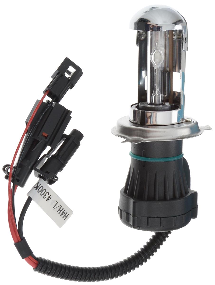 Лампа автомобильная биксеноновая Nord YADA, H4, 4300K10503Лампа автомобильная биксеноновая Nord YADA - это электрическая ксеноновая газозарядная лампа для автомобилей и других моторных транспортных средств. Ксеноновая лампа - это источник света, представляющий собой устройство, состоящее из колбы с газом (ксеноном), в котором светится электрическая дуга, которая возникает вследствие подачи напряжения на электроды лампы. Лампа предназначена для ближнего и дальнего света. Дает яркий белый свет, близкий по спектру к дневному. Высокая яркость обеспечивает хорошее освещение дороги и безопасность. Свет лампы насыщенный и интенсивный, поэтому она идеально подходит для освещения дороги во время тумана. Преимущества по сравнению с галогенной лампой: - Безопасность - лучше освещает дорогу, помогает быстрее среагировать на дорожную обстановку; - Экономичность - потребляет меньше, а светит ярче; - Увеличенный срок службы - не имеет нити накаливания, поэтому долговечна и не боится тряски.