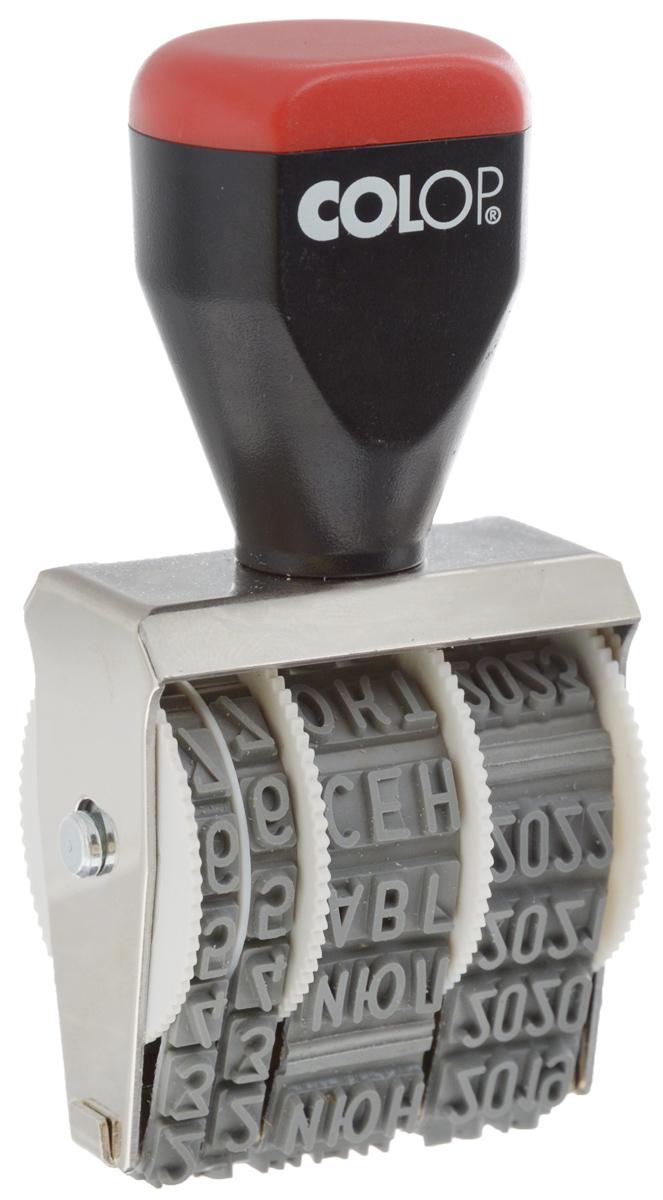 Colop Датер ленточный месяц прописью 5 ммFS-00897Датер ленточный Colop используется для проставления даты производства, срока годности. Изделие имеет удобную рукоятку и металлический корпус. Для получения оттиска датер предварительно окрашивается при помощи настольной штемпельной подушки. Дата устанавливается вручную при помощи колесиков. Оттиск однострочный. Пример оттиска: 28 окт 2013. Высота шрифта: 5 мм.