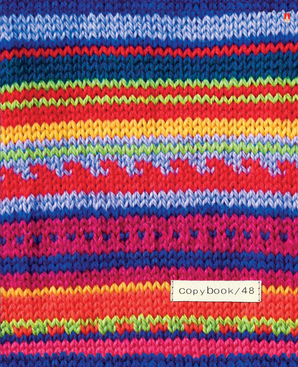 Альт Тетрадь Модный свитер 48 листов в клетку Вид 372523WDТетрадь Альт Модный свитер выпускается в стильной двойной обложке формата А5.Обложка тетради выполнена из плотного картона и оформлена рисунками в стиле вязаных материалов. Благодаря отделке гибридным лаком обложка приобретает необычный эффект матового пластика.Внутренний блок тетради, соединенный двумя металлическими скрепками, состоит из 48 листов белой бумаги. Четкая линовка точно совпадает с обеих сторон каждого листа. Поля отмечены красным цветом.