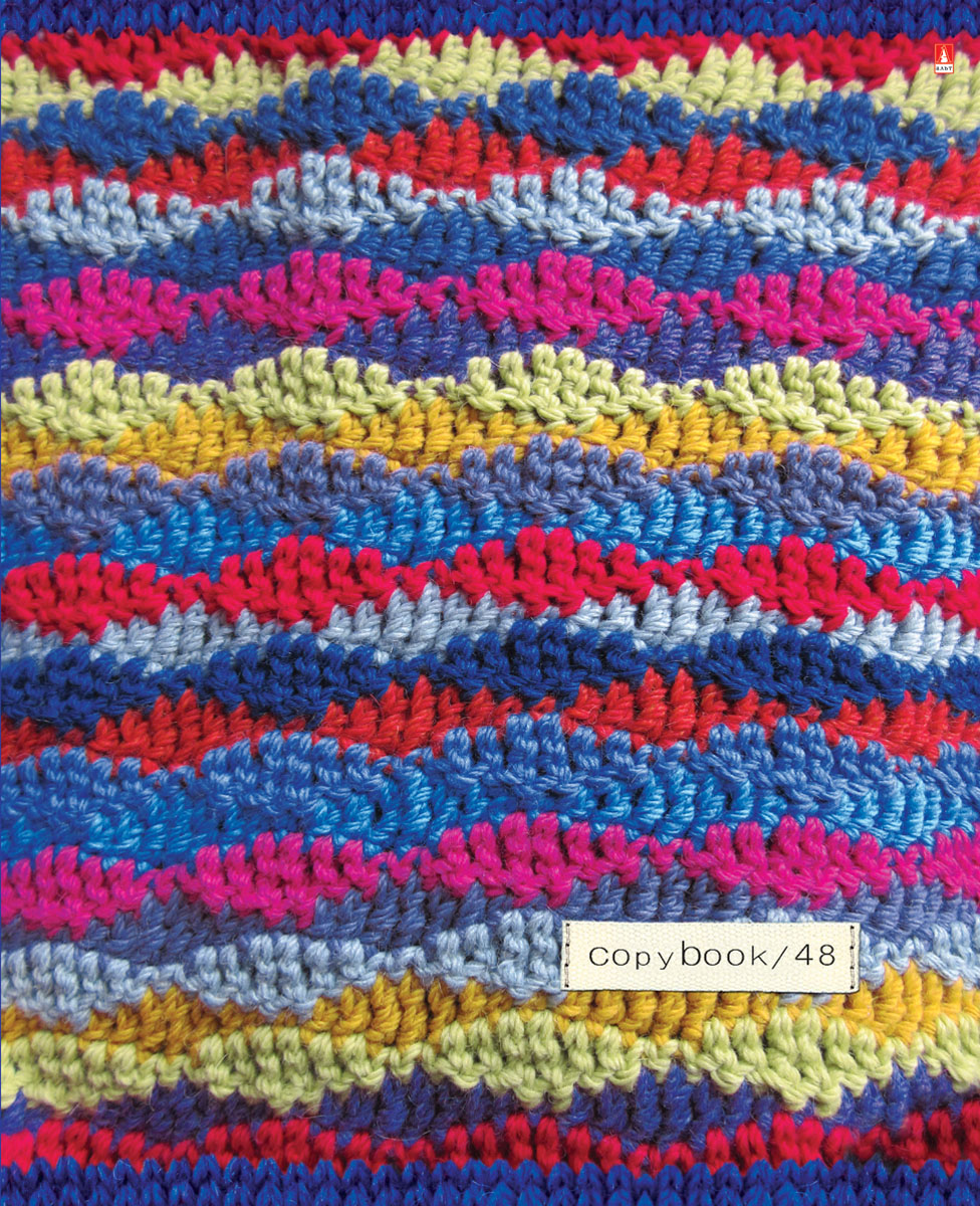 Тетрадь Альт Модный свитер выпускается в стильной двойной обложке формата А5.Обложка тетради выполнена из плотного картона и оформлена рисунками в стиле вязаных материалов. Благодаря отделке гибридным лаком обложка приобретает необычный эффект матового пластика.Внутренний блок тетради, соединенный двумя металлическими скрепками, состоит из 48 листов белой бумаги. Четкая линовка точно совпадает с обеих сторон каждого листа. Поля отмечены красным цветом.