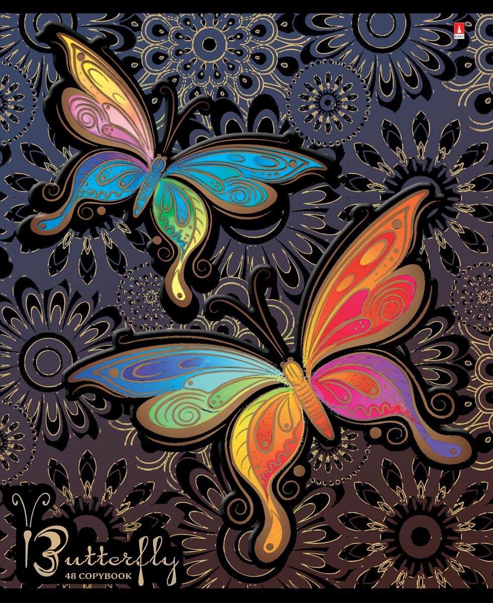Альт Тетрадь Радужные бабочки 48 листов в клетку вид 172523WDТетрадь Альт Радужные бабочки отлично подойдет для занятий школьнику,студенту или для различных записей.Двойная закругленная обложка тетради выполнена из качественного экологически чистого картона. Лицевая сторона оформлена изображением в виде ярких бабочек.Внутренний блок тетради, соединенный двумя металлическими скрепками, состоит из 48 листов первосортной бумаги белого цвета формата А5. Четкая линовка точно совпадает с обеих сторон каждого листа. Поля отмечены красным цветом.