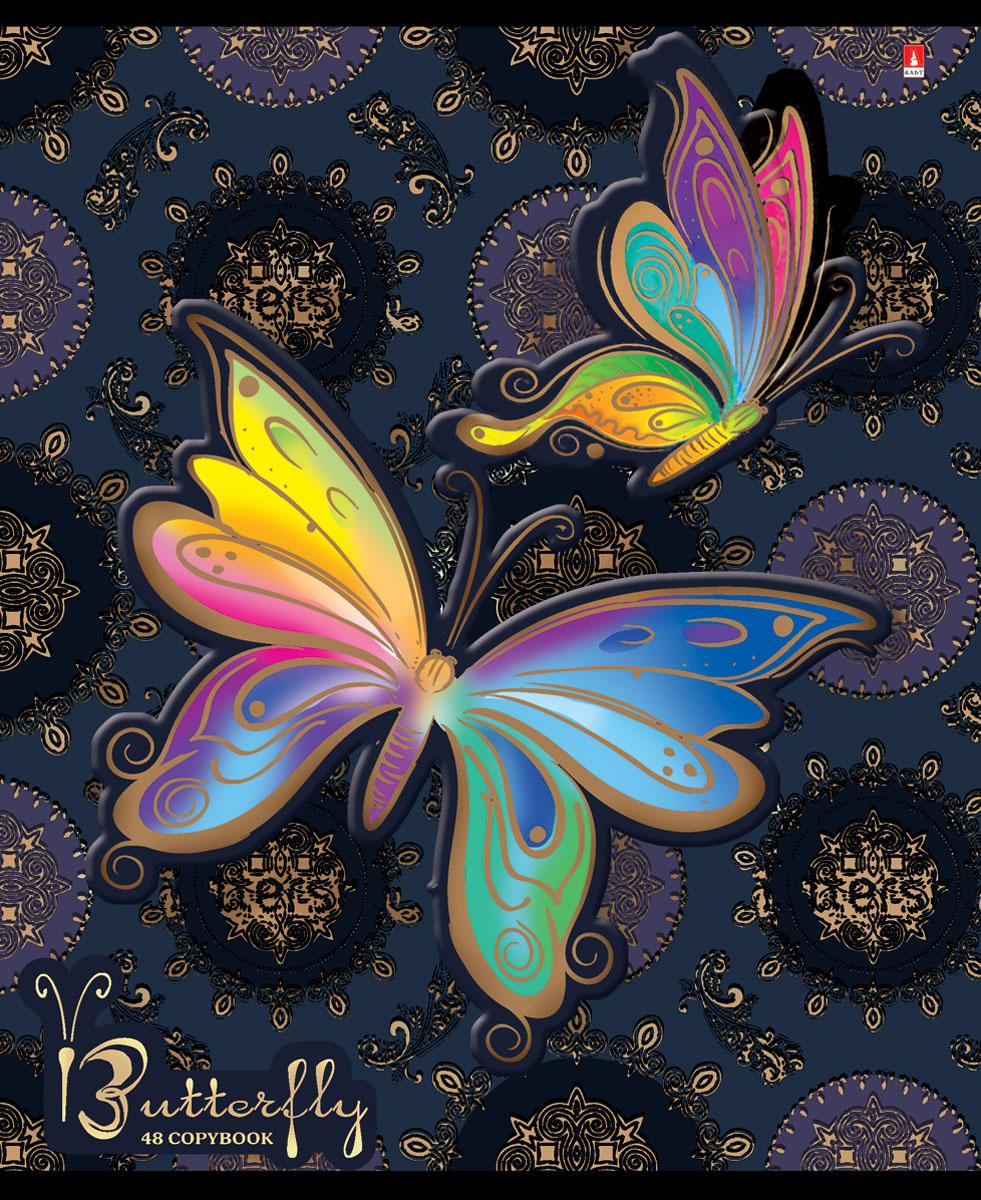 Альт Тетрадь Радужные бабочки 48 листов в клетку вид 57-48-696Тетрадь Альт Радужные бабочки отлично подойдет для занятий школьнику,студенту или для различных записей.Двойная закругленная обложка тетради выполнена из качественного экологически чистого картона. Лицевая сторона оформлена изображением в виде ярких бабочек.Внутренний блок тетради, соединенный двумя металлическими скрепками, состоит из 48 листов первосортной бумаги белого цвета формата А5. Четкая линовка точно совпадает с обеих сторон каждого листа. Поля отмечены красным цветом.