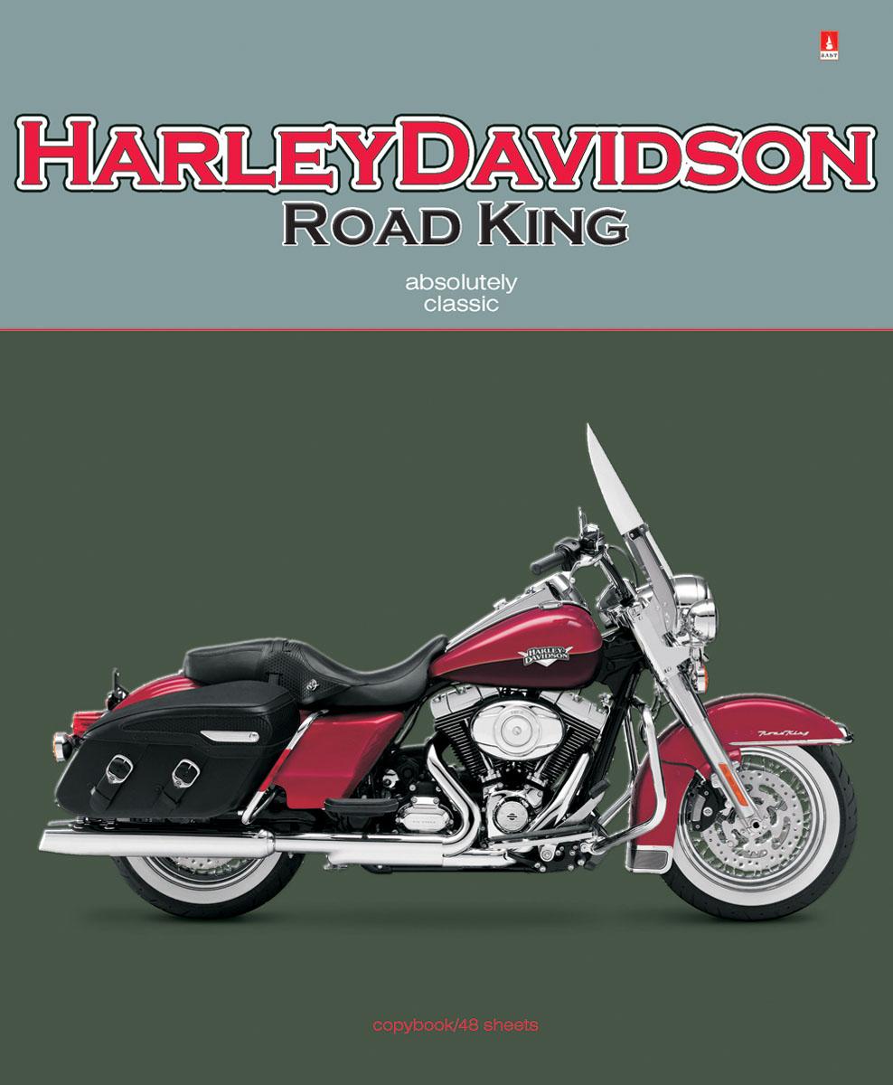 Альт Тетрадь Harley Davidson 48 листов в клетку402468_яблокоТетрадь Альт Harley Davidson подойдет студенту и школьнику.Серия Мотоциклы классика посвящена самым хитовым моделям мотоциклов. Двойная обложка тетради изготовлена из плотного картона. Печать выполняется на фольгированной поверхности, за счет чего усиливается объемность и реалистичность рисунка. Рельефное тиснение и отделка гибридным лаком подчеркнули особенности дизайна.Обложки с мотоциклами, относящимися к категории классика, наверняка хорошо знакомы молодым людям. Харлей Дэвидсон, Урал, Триумф и другие - это универсальные, самые популярные модели среди любителей высоких скоростей. Их сдержанный внешний вид, отсутствие большого количества хромированных деталей и украшений - вот причина успеха этих мотоциклов-легенд.Внутренний блок тетради состоит из 48 листов белой бумаги, соединенных двумя металлическими скрепками. Стандартная линовка в клетку дополнена красными полями.
