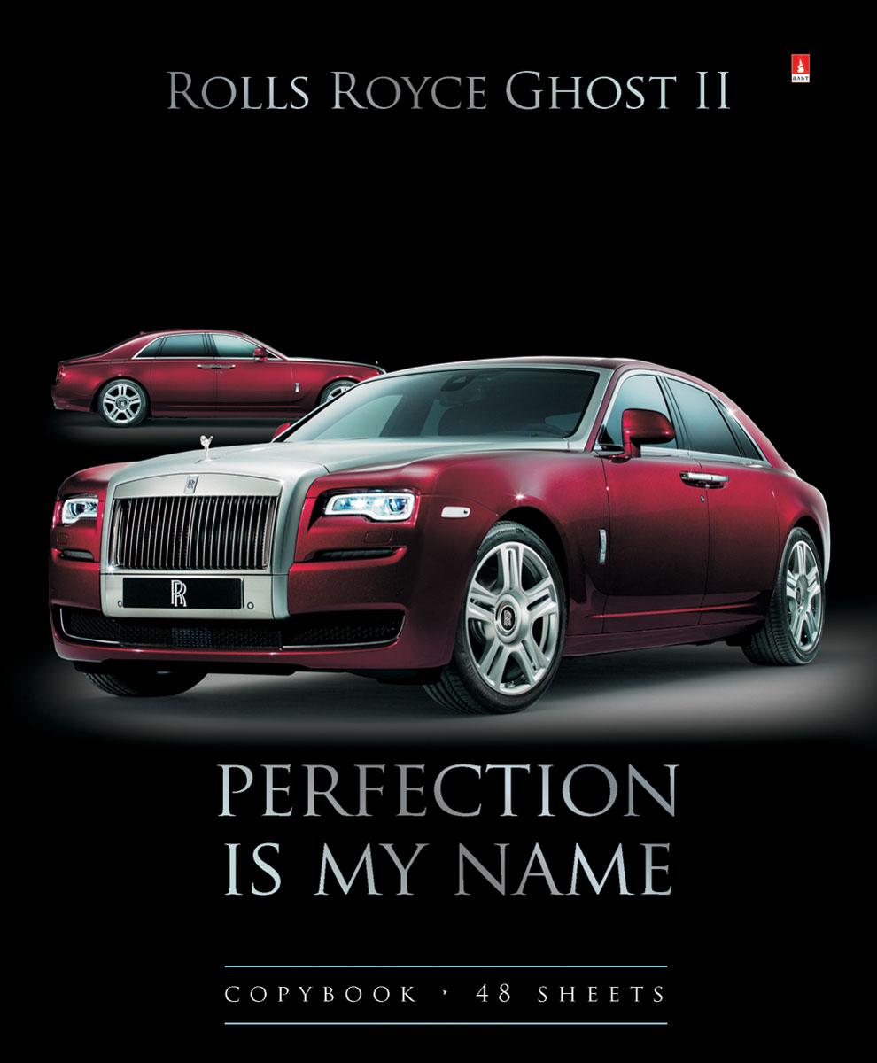 Альт Тетрадь Rolls Royce chost 2 48 листов в клетку72523WDТетрадь Альт Rolls Royce chost 2 из серии Машины седаны отлично подойдет для занятий школьнику,студенту или для различных записей.Двойная обложка тетради выполнена из качественного экологически чистого картона с покрытием лака и отделкой серебряной фольги. Лицевая сторона оформлена изображением красного Rolls Royce chost 2.Внутренний блок тетради, соединенный двумя металлическими скрепками, состоит из 48 листов первосортной бумаги белого цвета формата А5. Четкая линовка точно совпадает с обеих сторон каждого листа. Поля отмечены красным цветом.
