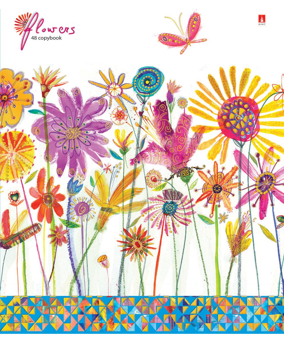 Альт Тетрадь Цветы Счастье 48 листов в клетку Вид 148Т5В1_14733Тетрадь Альт Цветы. Счастье идеально подойдет для большинства школьных предметов. Благодаря скругленным краям исключаются заломы уголков. Оригинальность дизайну придает полиграфическая отделка. Форзацы тетради с полноцветной печатью продолжают общее оформление данной серии. В выделенном поле можно написать имя и фамилию ученика.Внутренний блок тетради состоит из 48 листов высококачественной белой бумаги, соединенных двумя металлическими скрепками. Линовка в клетку сопровождается красными полями.