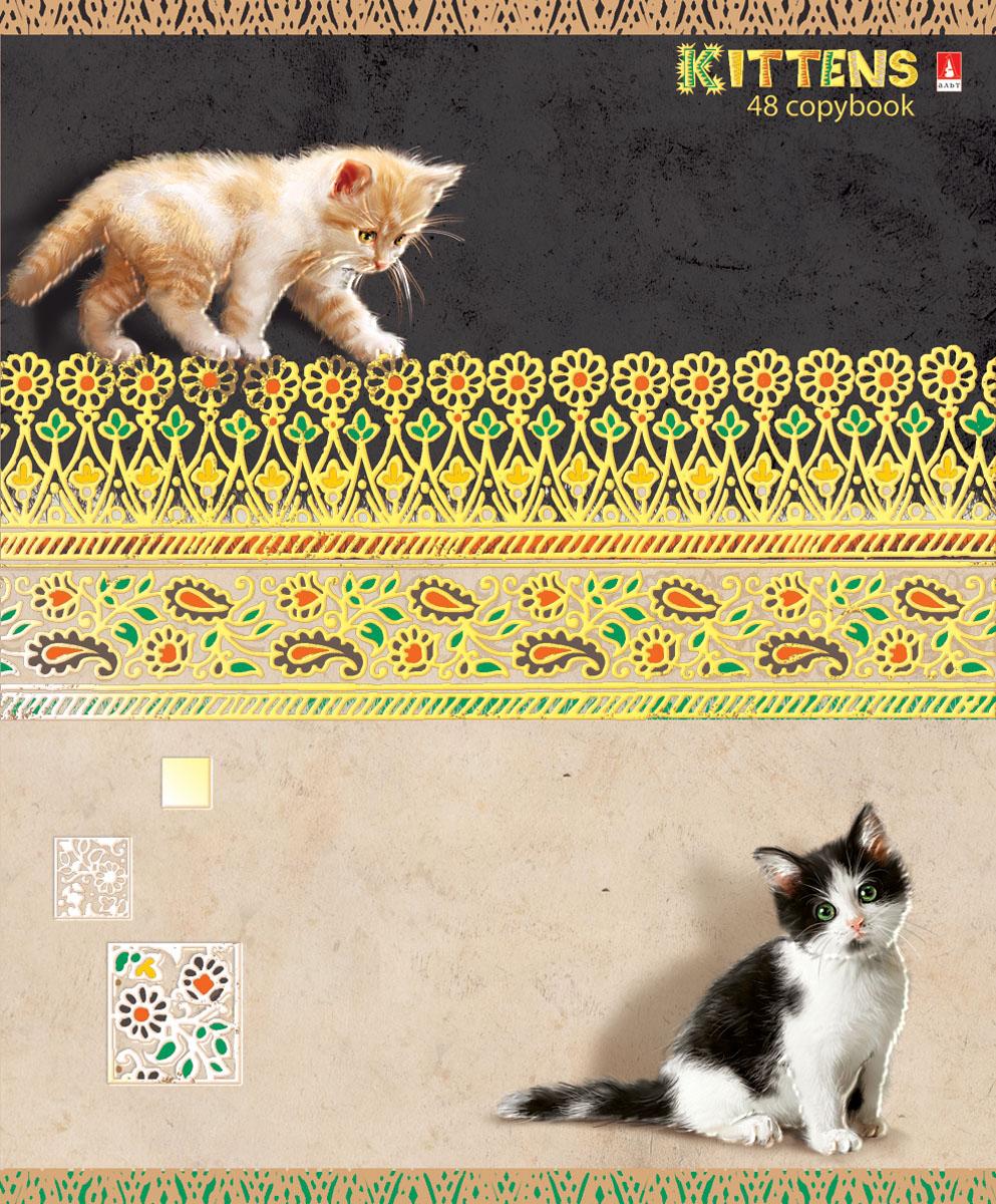 Альт Тетрадь Кошки-мышки 48 листов в клетку вид 15237_графитТетрадь Альт Кошки-мышки отлично подойдет для занятий школьнику,студенту или для различных записей.Обложка тетради с закругленными уголками выполнена из качественного экологически чистого картона и покрыта гибридным лаком. Лицевая сторона оформлена изображением красивых котят.Внутренний блок тетради, соединенный двумя металлическими скрепками, состоит из 48 листов первосортной бумаги белого цвета формата А5. Четкая линовка точно совпадает с обеих сторон каждого листа. Поля отмечены красным цветом.Вне зависимости от породы очарование и трогательность этих малышей не оставят равнодушными взрослых и детей.