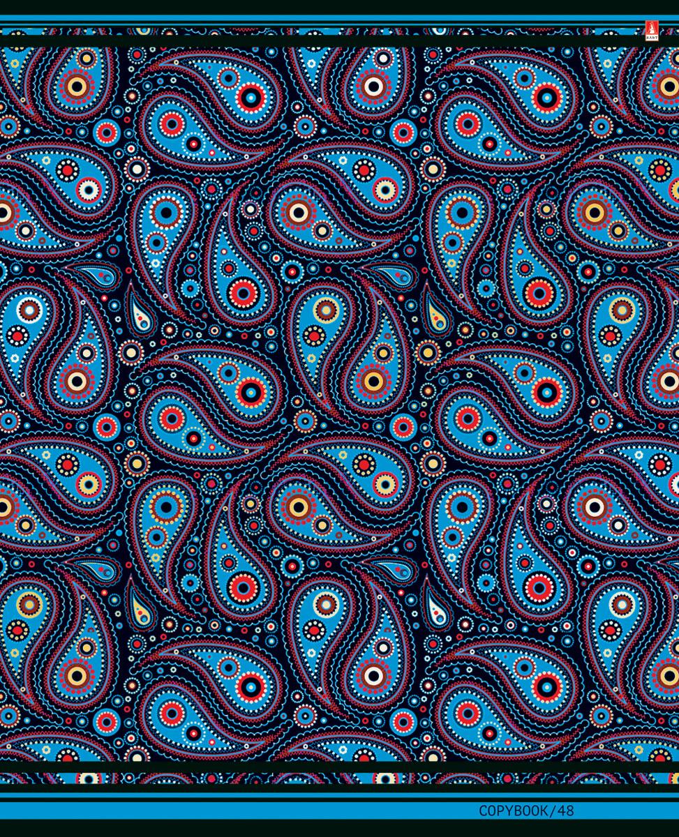 Альт Тетрадь Кашемир 48 листов в клетку Вид 372523WDТетрадь Альт Кашемир подойдет студенту и школьнику.Красочная серия Кашемир посвящена красоте одноименного текстильного материала, символа высокого стиля и хорошего вкуса. Фантазийные узоры в различных цветовых решениях - образец эстетики и гармонии.Внутренний блок тетради состоит из 48 листов белой бумаги, соединенных двумя металлическими скрепками. Стандартная линовка в клетку голубого цвета дополнена полями.