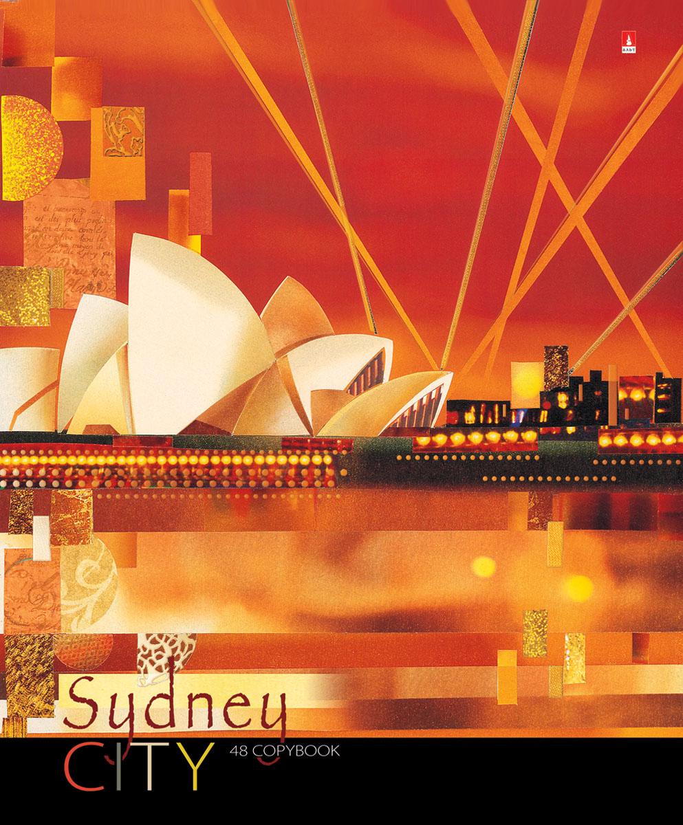 Альт Тетрадь Sydney 48 листов в клетку72523WDТетрадь Альт Sydney выпускается в стильной обложке формата А5.Обложка тетради выполнена из плотного картона и оформлена рисунком в стиле большого города Сиднея. Благодаря отделке гибридным лаком обложка приобретает необычный эффект матового пластика. На цветном форзаце обложки есть импровизированная карта мира с полем для данных ученика.Внутренний блок тетради, соединенный двумя металлическими скрепками, состоит из 48 листов белой бумаги. Четкая линовка точно совпадает с обеих сторон каждого листа. Поля отмечены красным цветом.