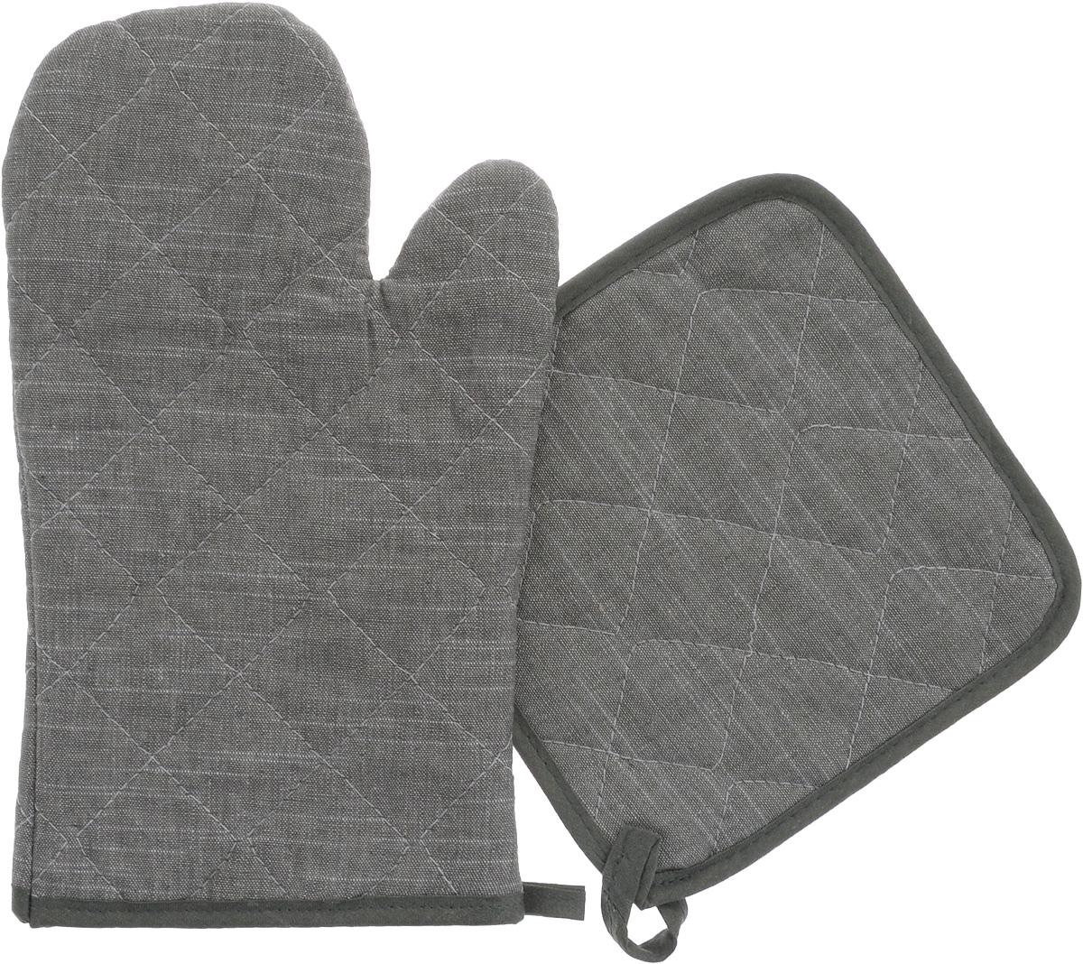 Набор прихваток Home Queen Деним, 2 предметаVT-1520(SR)Набор Home Queen Деним состоит из квадратной прихватки и прихватки-варежки. Изделия выполнены из хлопка, льна и полиэстера. Прихватки оснащены петельками, за которые их можно повесить в любое удобное место.Такой набор станет отличный вариантом подарка для практичной и современной хозяйки.