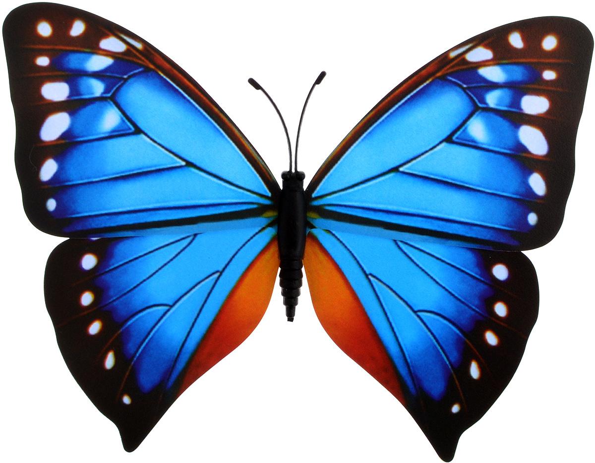 Декоративное украшение Village People Тропическая бабочка, с магнитом, цвет: синий, коричневый (23), 12 х 8 смRG-D31SДекоративная фигурка Village People Тропическая бабочка изготовлена из ПВХ. Изделие выполнено в виде бабочки и оснащено магнитом, с помощью которого вы сможете поместить изделие в любом удобном для вас месте. Это не только красивое украшение, но и замечательный способ отпугнуть птиц с грядок. Яркий дизайн фигурки оживит ландшафт сада.