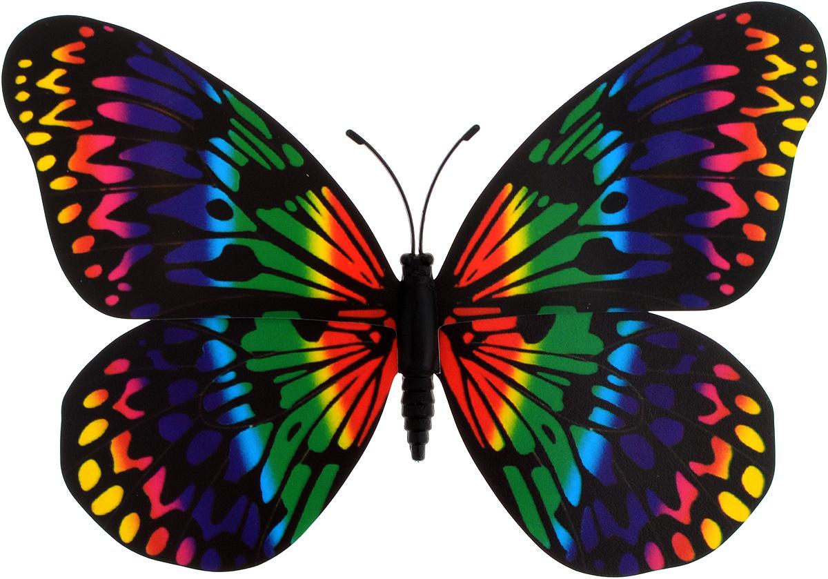 Декоративное украшение Village People Тропическая бабочка, с магнитом, цвет: черный, красный, зеленый (26), 12 х 8 см спрейер village people цвет белый зеленый 500 мл
