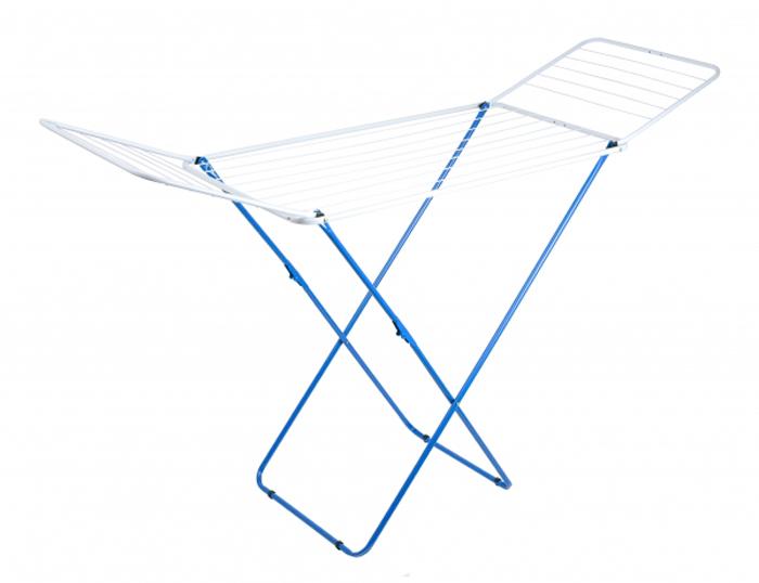 Сушилка для белья Attribute Прима, 20 м, цвет: синий. ADP220ADP220Оригинальная модель сушилок из высококачественной эмалированной стали. Длина металлических трубок для сушки одежды составляет 20 метров. Ножки выполнены в красном цвете. Максимальная нагрузка 17 кг. Количество подвесов: 8 шт по 1 м, 16 шт по 0,5 м.