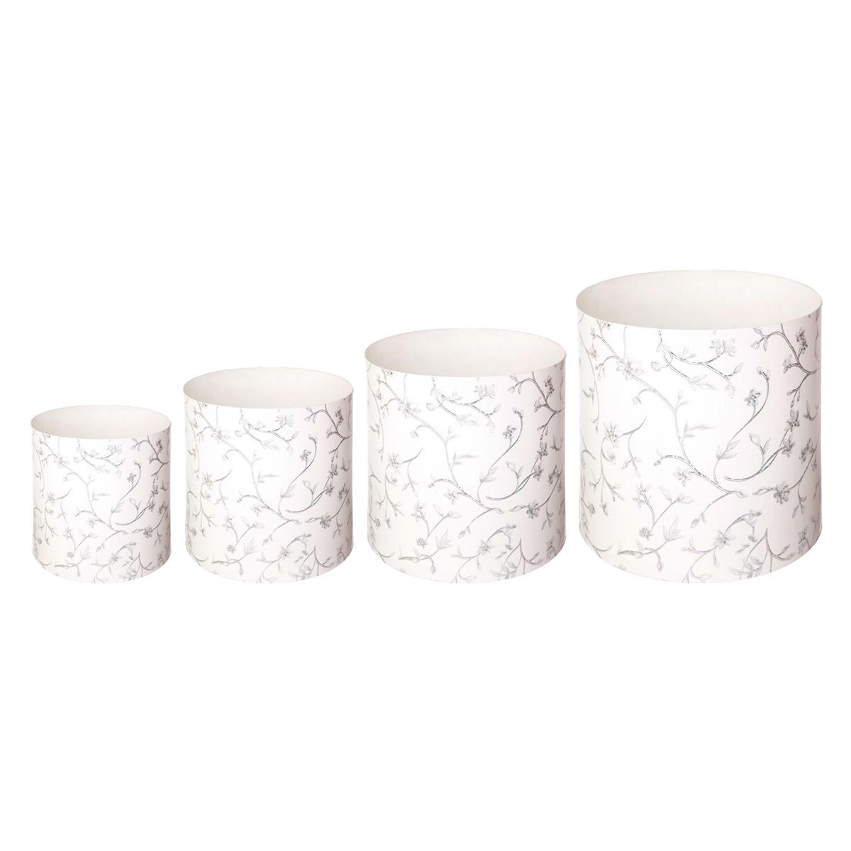 Набор горшков для цветов Miolla Металлик со скрытым поддоном, 4 предметаZ-0307Набор горшочков Miolla c 3D рисунком. Хорошо будут смотреться как основа для топиариев и флористических композиций. А так же замечательно для комнатных цветов. Со скрытым поддоном.