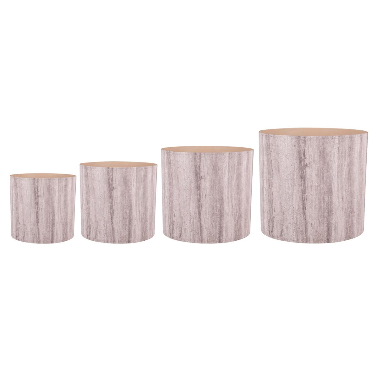 Набор горшков для цветов Miolla Бежевый ламинат, со скрытым поддоном, 4 предметаZ-0307Набор Miolla Бежевый ламинат состоит из 4 горшков со скрытыми поддонами. Горшкивыполнены из пластика. Изделия предназначены для цветов. Изделия оснащены специальными скрытыми поддонами.Диаметр горшков: 20,5 см, 16,5 см, 13,5 см, 11,5 см.Высота горшков (с учетом поддона): 19 см, 16 см, 13,5 см, 11,5 см.Объем горшков: 1 л, 1,7 л, 2,8 л, 5,1 л.