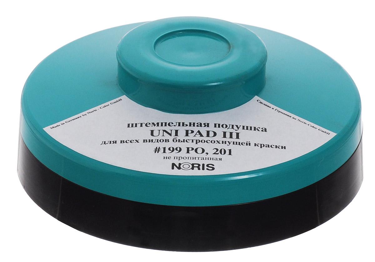 Штемпельная подушка Noris Uni Pad III подходит не только для работы с невидимыми, быстросохнущими, универсальными и специальными красками, включая краски на масляной основе, но также она идеальна в использовании с краской 199 РО.Благодаря округлой форме, значительно экономит расход краски!