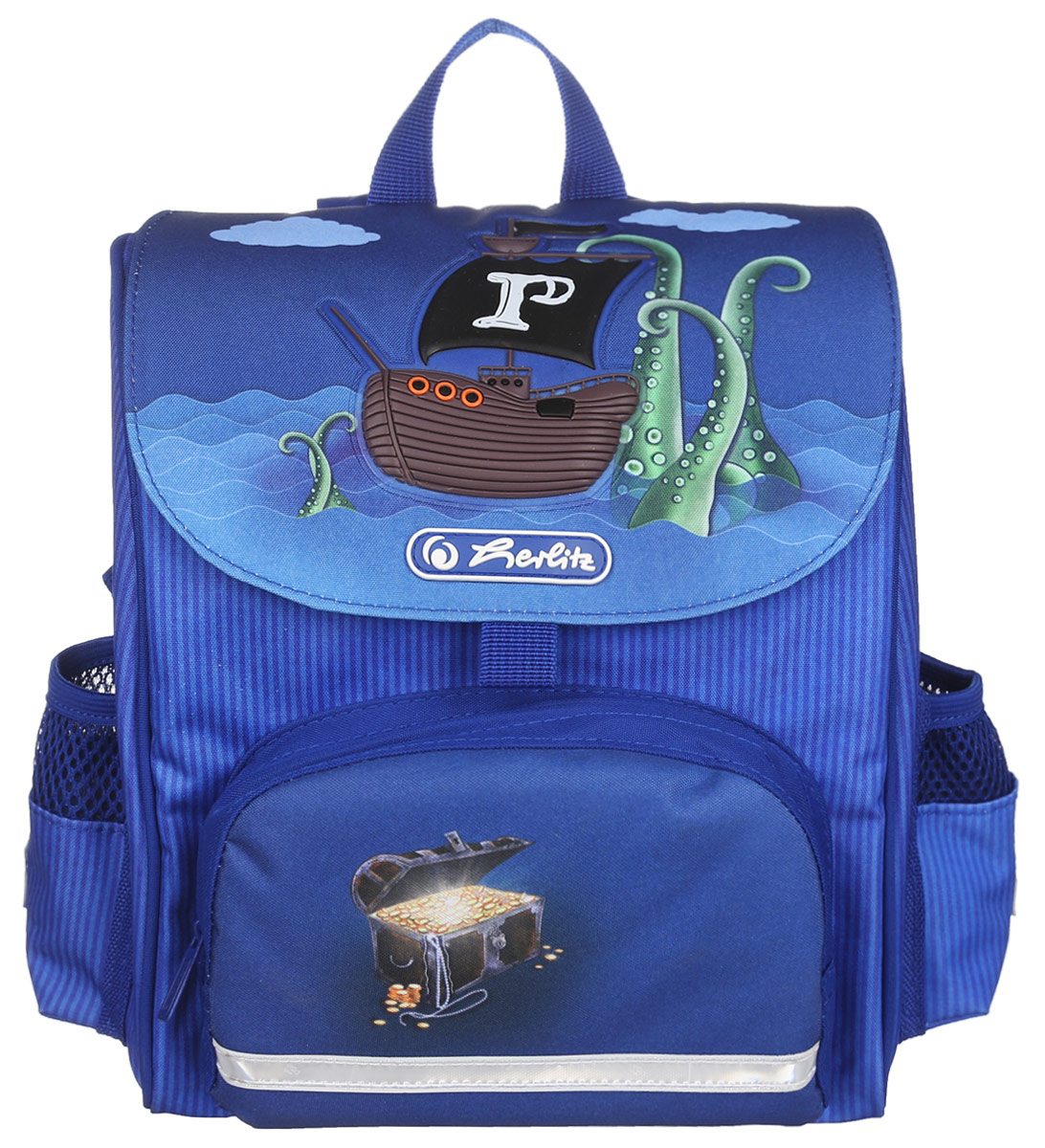 Herlitz Рюкзак дошкольный Mini Softbag730396Дошкольный рюкзак Herlitz Mini Softbag - это идеальная модель, разработанная специально для дошкольников.Рюкзак оснащен всеми деталями взрослого школьного изделия. Рюкзак имеет одно просторное внутреннее отделение, закрывающееся клапаном на липучку. На лицевой стороне рюкзака находится накладной карман на молнии, а по бокам - два открытых кармана на резинках. В рюкзак превосходно поместятся цветные мелки, книжки-раскраски и игрушки. Рюкзак легко открывается и закрывается благодаря застежке на липучке Velcro Fastener.Ортопедическая спинка, созданная по специальной технологии из дышащего материала, равномерно распределяет нагрузку на плечевые суставы и спину. В нижней части спинки расположен поясничный упор - небольшой валик, на который при правильном ношении рюкзака будет приходиться основная нагрузка.Изделие оснащено удобной текстильной ручкой для переноски в руке и двумя лямками регулируемой длины. У рюкзака имеются светоотражатели.