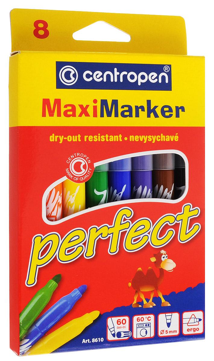 Centropen Набор маркеров Perfect 8 цветов730396Набор маркеров Centropen Perfect состоит из 8 маркеров, которые обязательно понравятся юному художнику, ведь они имеют эргономичную форму.Маркеры с большим запасом специальных чернил, благодаря чему не высыхают без колпачка в течение 60 дней. Изделия безвредны и нетоксичны, легко смываются с рук.Диаметр стержня - 5 мм.