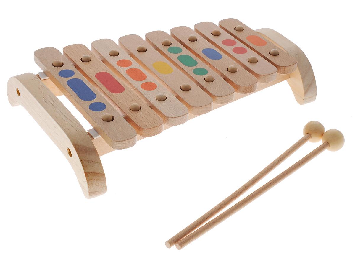 Мир деревянных игрушек Музыкальная игрушка Ксилофон 8 тонов