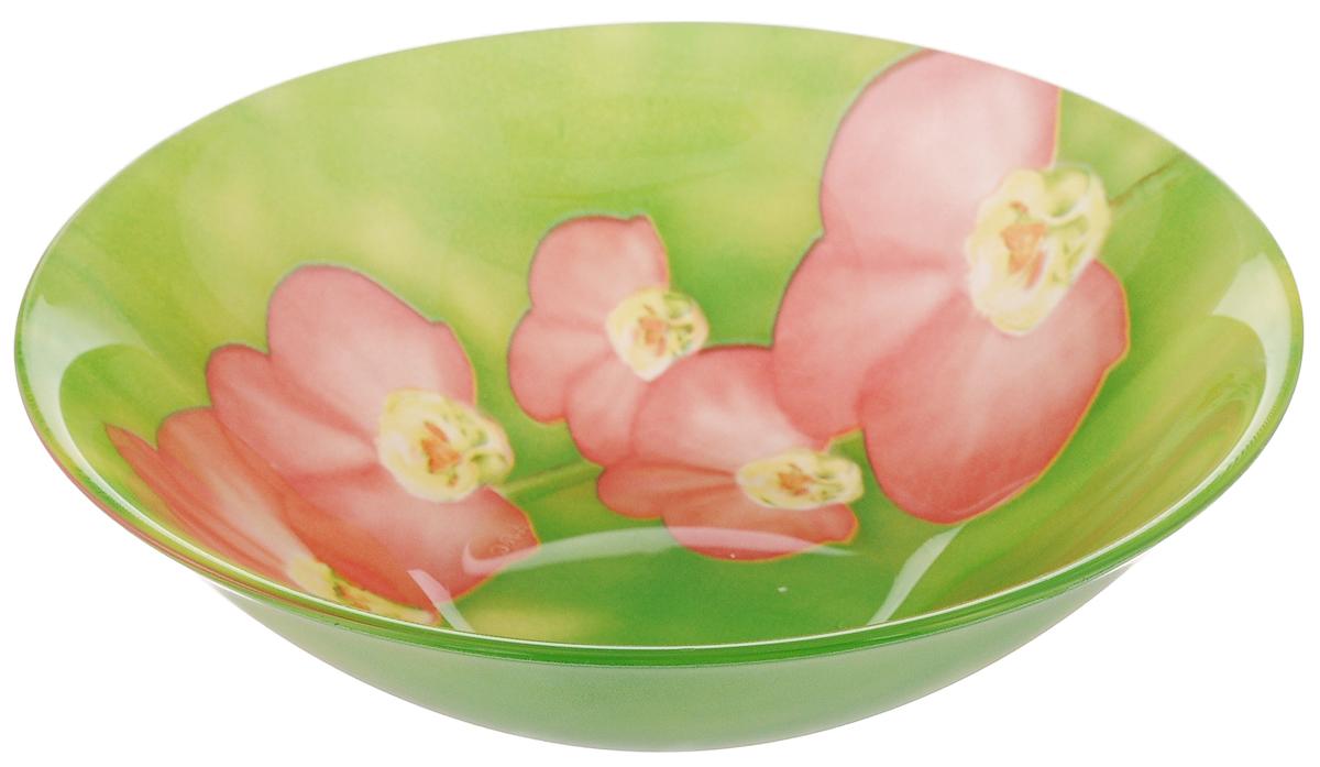 Салатник Luminarc Carina Erine, диаметр 16,5 см54 009312Салатник Luminarc Carina Erine выполнен из высококачественного стекла и украшен ярким цветочным рисунком. Он прекрасно впишется в интерьер вашей кухни и станет достойным дополнением к кухонному инвентарю. Салатник Luminarc Carina Erine подчеркнет прекрасный вкус хозяйки и станет отличным подарком.Можно мыть в посудомоечной машине и использовать в СВЧ.Диаметр салатника (по верхнему краю): 16,5 см.Высота стенки салатника: 5 см.