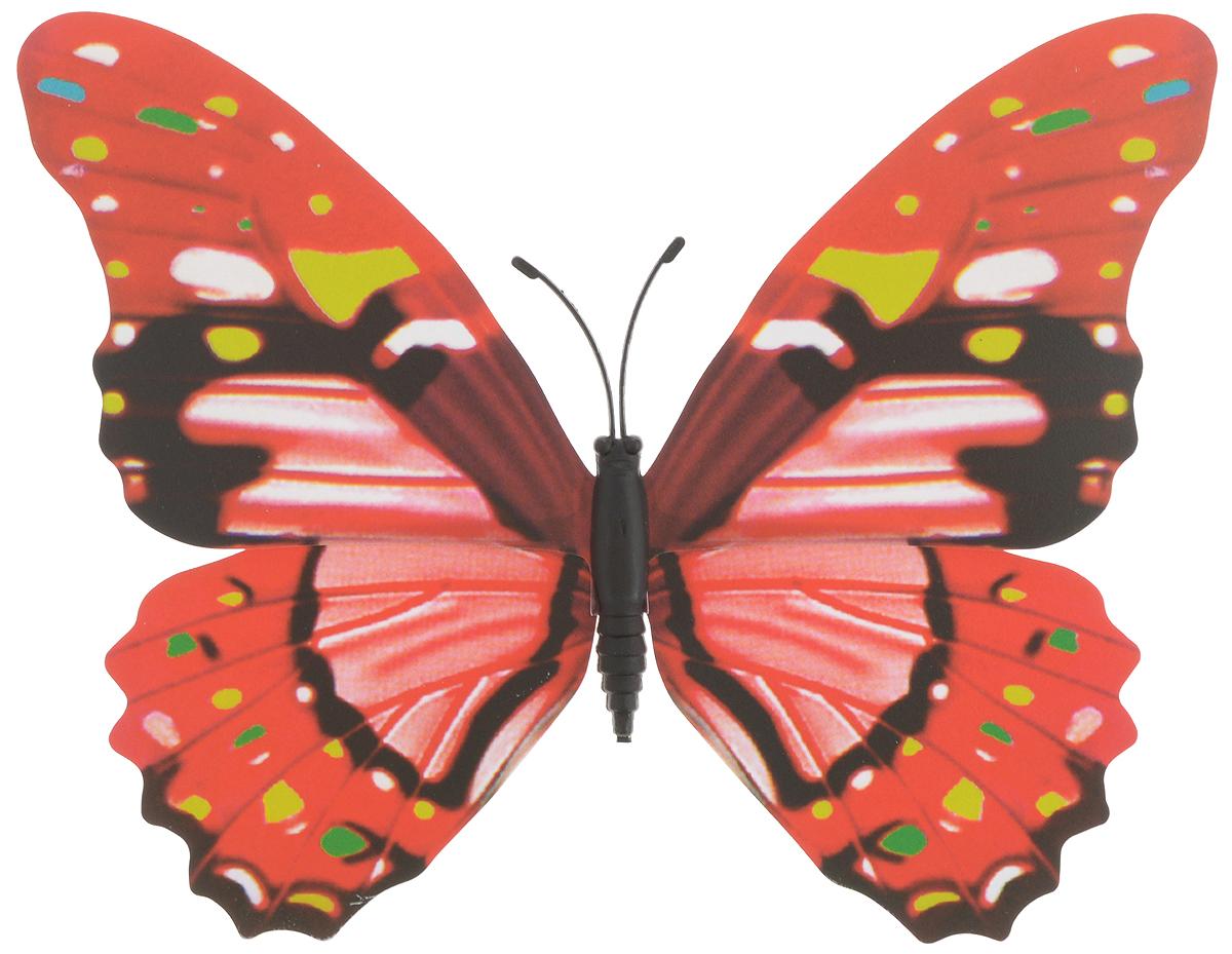 Фигура садовая Village people Тропическая бабочка, с магнитом, 12 х 9,5 смZ-0307Ветряная фигурка Village People Тропическая бабочка, изготовленная из ПВХ, это не только красивое украшение, но и замечательный способ отпугнуть птиц с грядок. При дуновении ветра бабочка начинает порхать крыльями. Изделие оснащено магнитом, с помощью которого вы сможете поместить его в любом удобном для вас месте. Яркий дизайн фигурки оживит ландшафт сада.