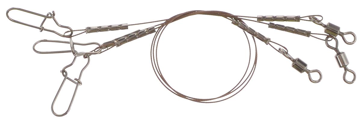 Поводок Win AFW 7х7, тест 8 кг, 10 см, 3 шт56966Поводок Win AFW 7х7 изготовлен из поводкового материала Surfstrand Micro Supreme, фирмы AFW (США). Данный материал имеет маскирующее покрытие Camo, подходящее для большинства водоемов. Поводок очень мягкий и устойчивый к деформации. Не подвержен коррозии, не токсичен.Особенности поводка: - Многократно испытан на прочность; - Высококачественная фурнитура подобрана с достаточным запасом прочности; - Контроль качества на всех этапах производства.