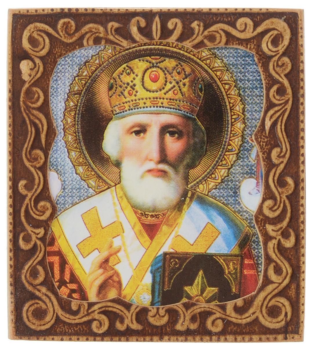 Икона Sima-land Святой Николай Чудотворец, 6 х 6,5 см икона янтарная богородица скоропослушница кян 2 305