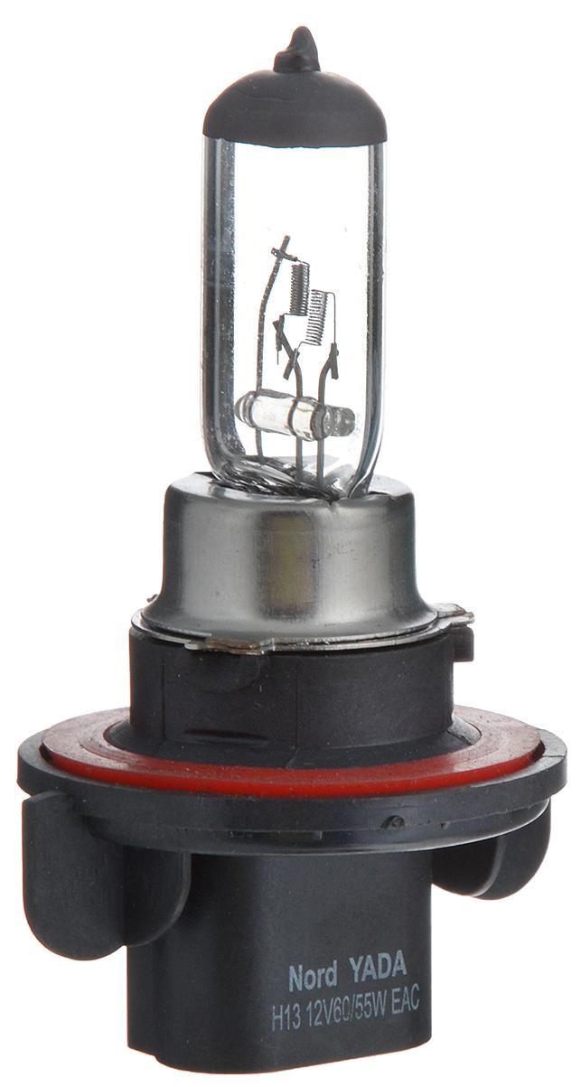 Лампа автомобильная галогенная Nord YADA Clear, цоколь H13, 12V, 60/55WVCA-00Лампа автомобильная галогенная Nord YADA Clear - это электрическая галогенная лампа с вольфрамовой нитью для автомобилей и других моторных транспортных средств. Виброустойчива, надежна, имеет долгий срок службы. Галогенные лампы предназначены для использования в фарах ближнего, дальнего и противотуманного света. Серия Clear обеспечивает водителю классический оттенок светового пятна на дороге, к которому привыкло большинство водителей.