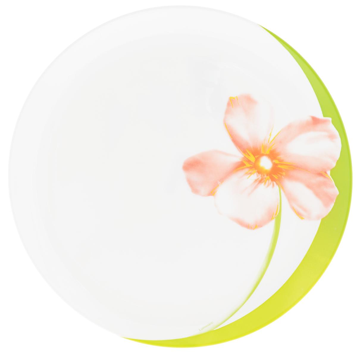 Тарелка обеденная Luminarc Sweet Impression, диаметр 25 см115510Обеденная тарелка Luminarc Sweet Impression, изготовленная из высококачественного стекла,имеет изысканный внешний вид. Такой дизайн придется по вкусу и ценителям классики,и тем, кто предпочитает утонченность. Тарелка Luminarc Sweet Impression идеально подойдет для сервировкистола и станет отличным подарком к любому празднику.