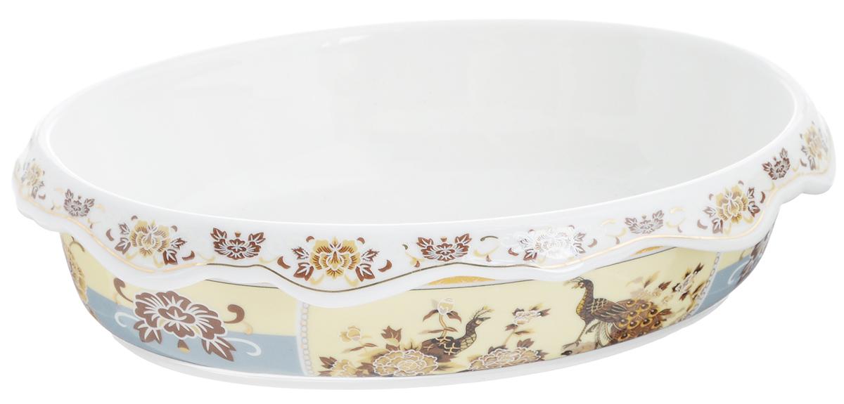 Шубница Elan Gallery Павлин, 900 млVT-1520(SR)Шубница Elan Gallery Павлин, выполненная из высококачественной керамики, идеально подойдет для сервировки традиционного салата Сельдь под шубой или любого другого слоеного салата. Компактное и оригинальное блюдо станет незаменимым при любом застолье. Не рекомендуется применять абразивные моющие средства. Не использовать в микроволновой печи.