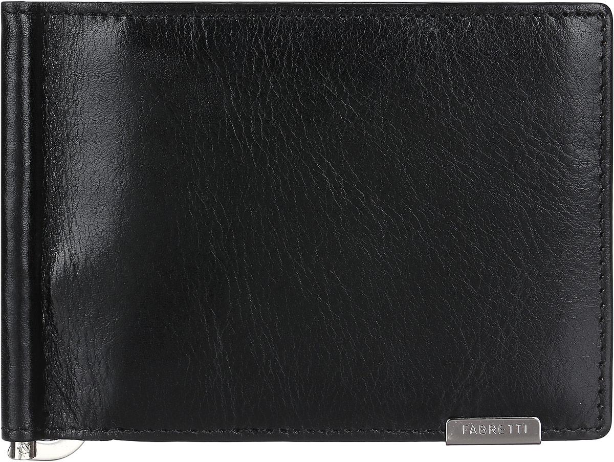 Зажим для купюр мужской Fabretti, цвет: черный. 32006-black490300нСтильный и практичный мужской зажим для купюр от Fabretti выполнен из натуральной гладкой кожи и дополнен одним объемным карманом для мелочи, который закрывается клапаном на кнопку. Изделие состоит из шести карманов для визиток и карт, двух скрытых карманов.Зажим упакован в фирменную коробку с логотипом бренда.Такой аксессуар станет неотъемлемой частью вашего образа благодаря своей практичности.