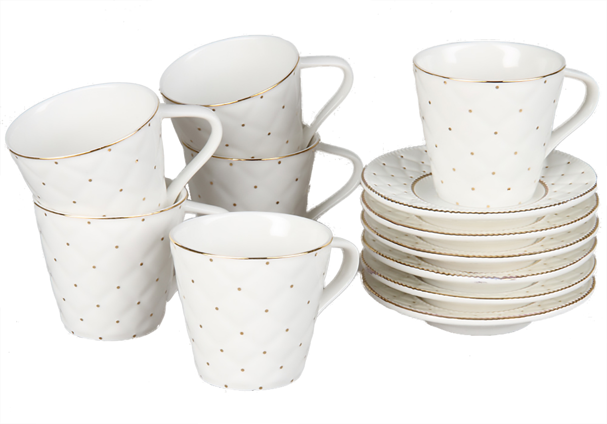 Кофейный набор Rosenberg, 12 предметов, 120мл. 8713115510кофейный набор, 12 предметов, чашка 100мл блюдце 10 х 10 см