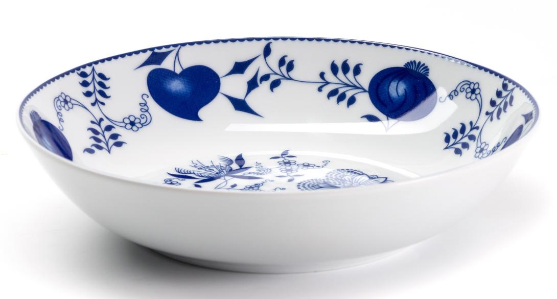 Тарелка глубокая La Rose des Sables Ognion Bleu, диаметр 21 см115510Тарелка La Rose des Sables Ognion Bleu, изготовленная из высококачественного фарфора, имеет классическую круглую форму. Она прекрасно впишется в интерьер вашей кухни и станет достойным дополнением к кухонному инвентарю. Тарелка La Rose des Sables Ognion Bleu подчеркнет прекрасный вкус хозяйки и станет отличным подарком.Диаметр тарелки (по верхнему краю): 21 см.