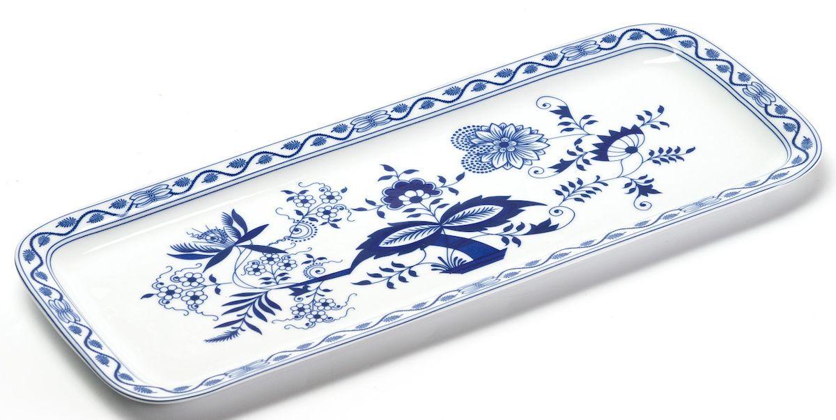 Блюдо La Rose des Sables Ognion Bleu, прямоугольное, 15,5 х 37,7 смFS-91909Блюдо La Rose des Sables Ognion Bleu, изготовленное из высококачественного фарфора, имеет классическую форму. Оно прекрасно впишется в интерьер вашей кухни и станет достойным дополнением к кухонному инвентарю. Блюдо La Rose des Sables Ognion Bleu подчеркнет прекрасный вкус хозяйки и станет отличным подарком.Размер изделия (по верхнему краю): 15,5 х 37,7 см.