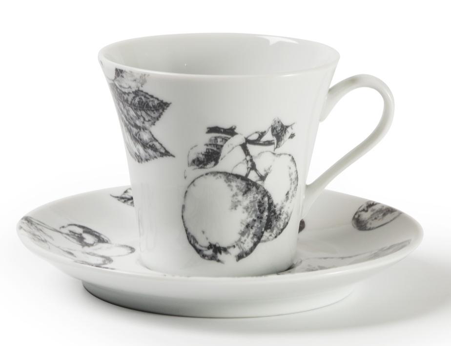 Кофейная пара La Rose Des Sables Black Apple, 100 мл115510Фарфор производится в Тунисе из знаменитой своим качеством и белизной глины, добываемой во французской провинции Лимож. Преимущества этого фарфора заключаются в устойчивости к сколам и трещинам, что возможно благодаря двойному термическому обжигу. Лиможский фарфор не содержит включений тяжелых металлов, что соответствует мировым и российским санитарным требованиям. Данную серию можно использовать в СВЧ и посудомоечной машине. Приобретая лиможский фарфор, вы становитесь обладателем древних традиций и искусства фарфора.