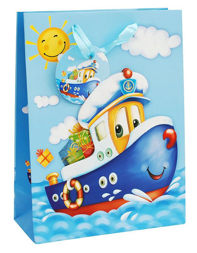 Пакет подарочный Белоснежка Кораблик, 18 х 24 х 8 см1028-SBПодарочный пакет Кораблик выполнен из качественной плотной бумаги с хорошей печатью, объемные элементы на пакете придают дополнительный яркий акцент.