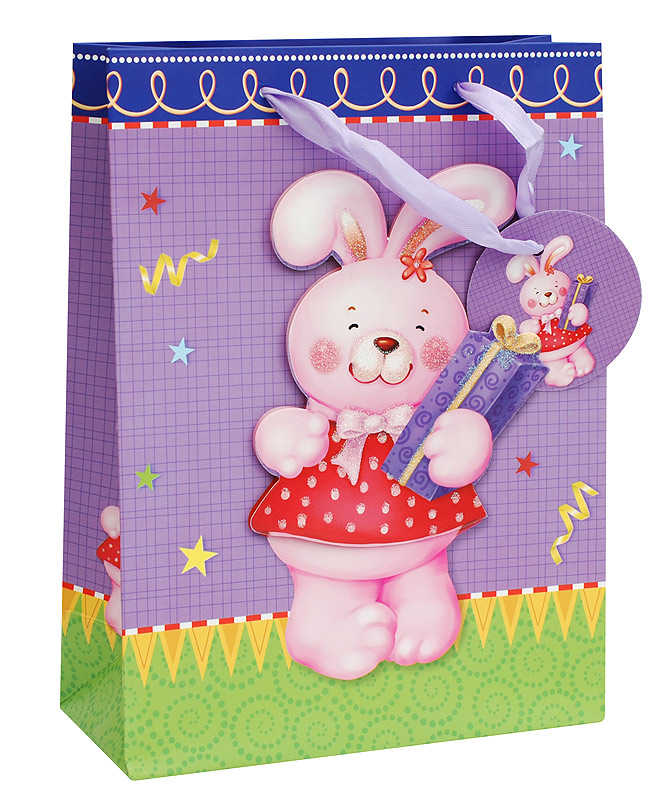 Пакет подарочный Белоснежка Розовый зайка, 18 х 24 х 8 см750Пакет подарочный Розовый зайка выполнен из качественной плотной бумаги с хорошей печатью, объемные элементы на пакете придают дополнительный яркий акцент.