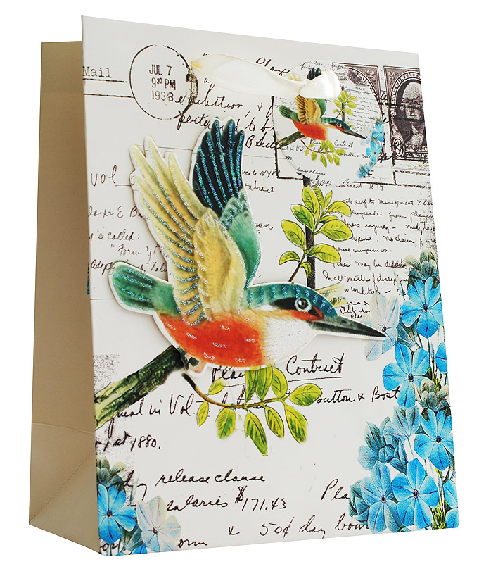 Пакет подарочный Белоснежка Райская птичка, 18 х 23 х 10 смC0038550Подарочный пакет Райская птичка выполнен из качественной плотной бумаги с хорошей печатью, объемные элементы на пакете придают дополнительный яркий акцент.