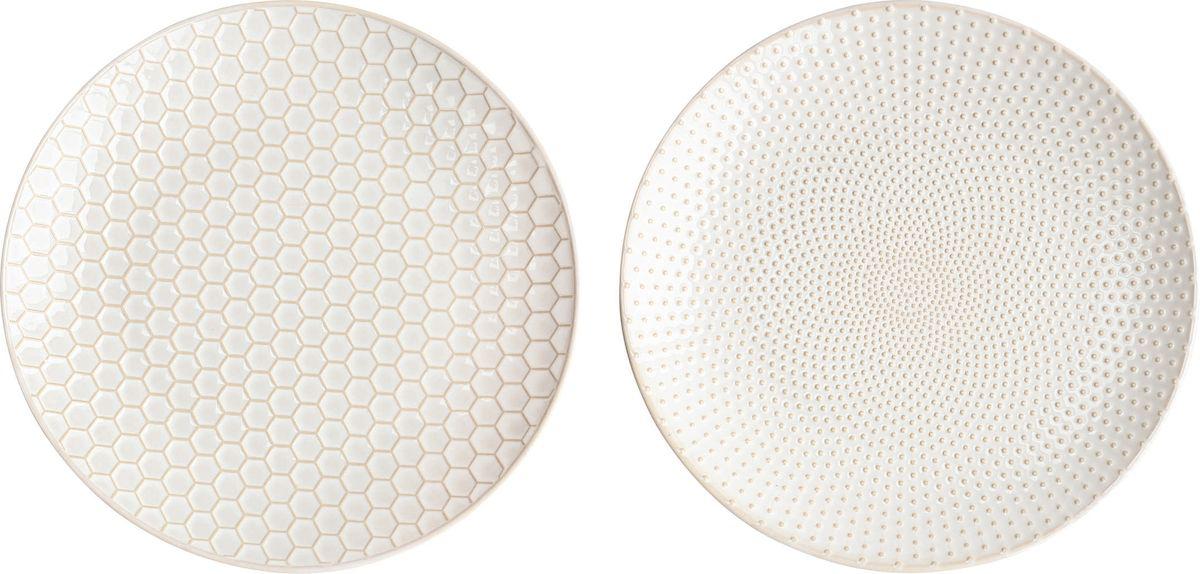 Набор тарелок Asa Selection Linna, цвет: белый, 2 шт. 90404/071115510Набор LINNA из 2х тарелок. Диаметр 20,3 см. Материал: фарфор.
