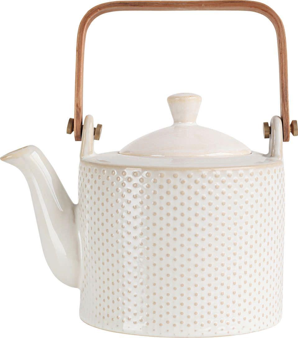 Чайник заварочный Asa Selection, цвет: белый. 90400/071OLM-600_бирюзовыйДля того чтобы насладиться чайной церемонией, требуется не только знание ритуала и чай высшего сорта. Необходим прекрасный заварочный чайник, который может быть как центральной фигурой фарфорового сервиза, так и самостоятельным, отдельным предметом. От его формы и качества фарфора зависит аромат и вкус приготовленного напитка. Заварочный чайник Asa Selection стане прекрасным украшением чайной церемонии, а так же подарком.Размер: 160 х 185 х 140 мм