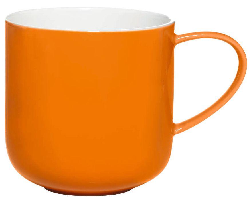 Чашка Asa Selection Coppa, 410 мл, цвет: оранжевый. 19100/80754 009312Чашка фарфоровая двухцветная COPPA. Объем: 0,41 литра. Материал: костяной фарфор. Цвет: оранжевый.