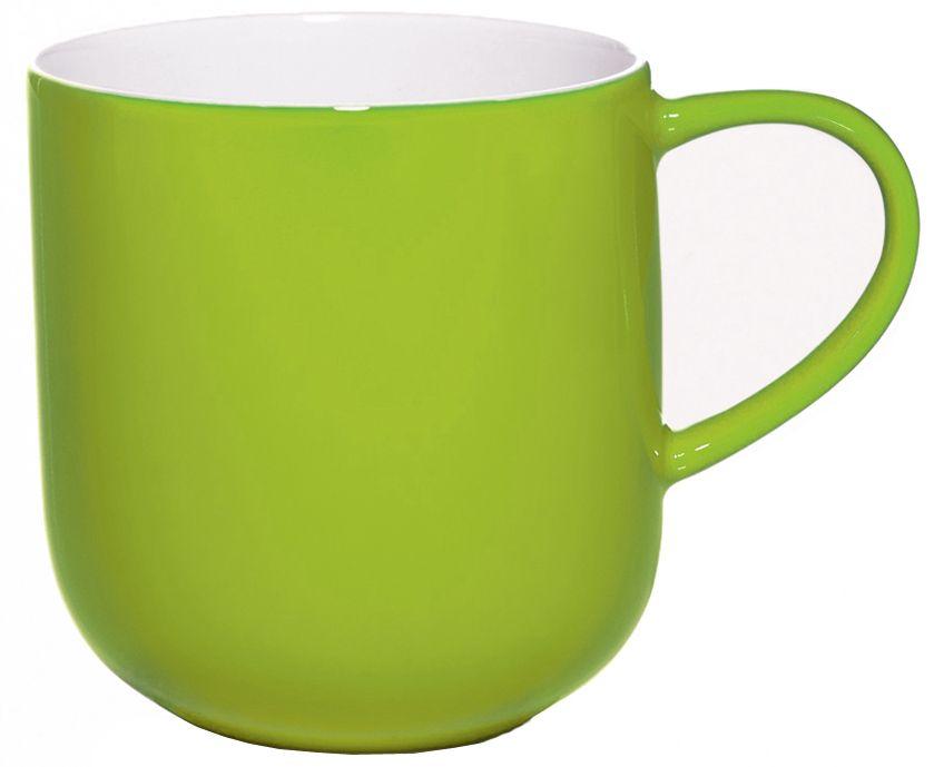 Чашка Asa Selection Coppa, 410 мл, цвет: салатовый. 19100/80154 009312Чашка COPPA двухцветная. Объем: 0,41 литра. Материал: фарфор. Цвет: салатный.