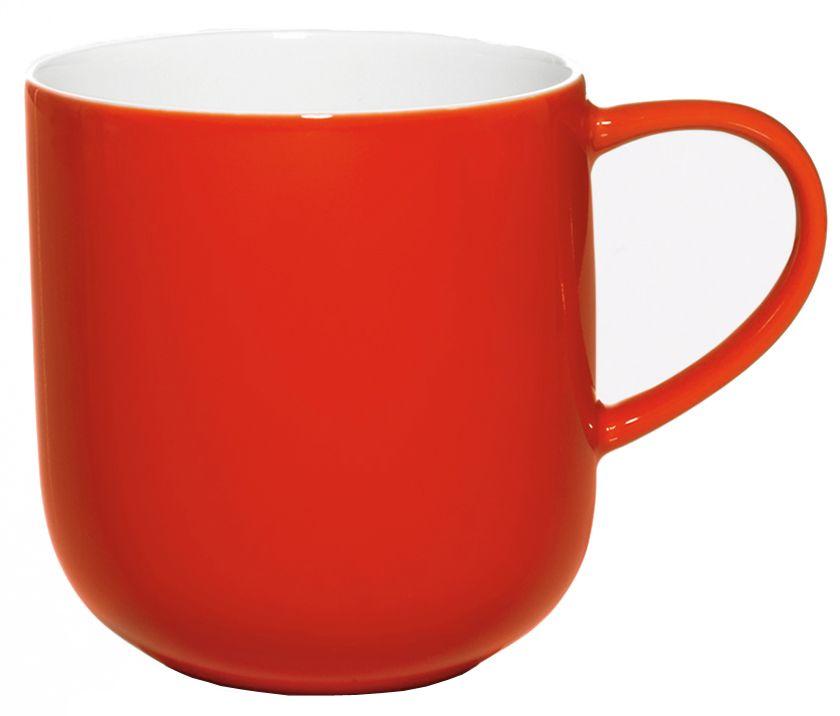 Чашка Asa Selection Coppa, 410 мл, цвет: красный. 19100/069115510Чашка фарфоровая двухцветная COPPA. Объем: 0,41 литра. Материал: костяной фарфор. Цвет: красный.