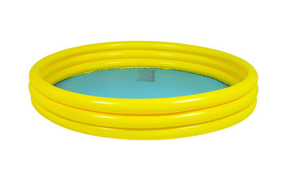 Бассейн надувной Jilong Plain, цвет: голубой, желтый, 99 х 99 х 23 см09840-20.000.00Надувной бассейн Plain будет просто незаменим в летний жаркий день на даче. Бассейн круглой формы выполнен из прочного ПВХ. Упругие стенки бассейна представляют собой три прочных кольца.Яркий дизайн бассейна сделает его не только незаменимым атрибутом летнего отдыха, но и дополнением ландшафтного дизайна участка.Рекомендуемый возраст: 2-6 лет.Обращаем ваше внимание на тот факт, что бассейн поставляется в сдутом виде и надувается при помощи насоса (не входит в комплект).Диаметр: 99 см.