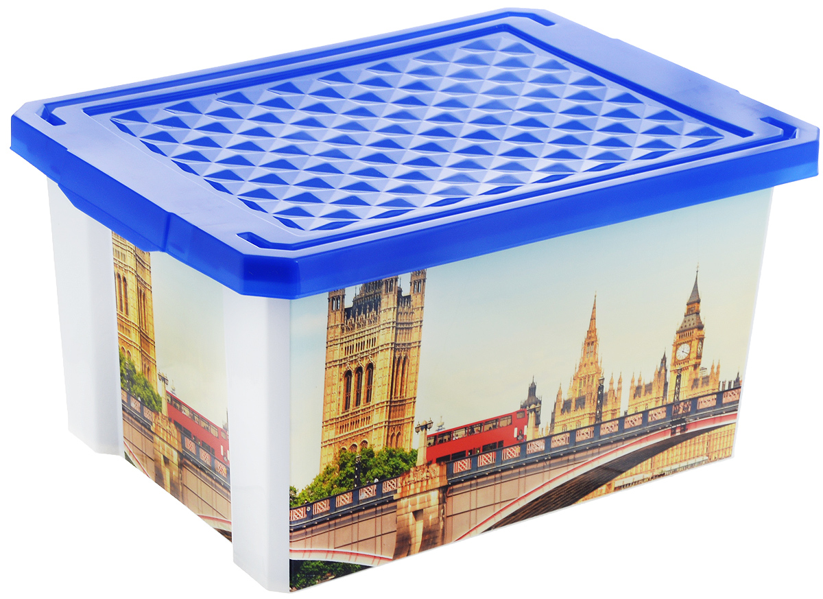 Ящик для хранения BranQ Optima. Англия, 17 л10503Универсальный ящик для хранения BranQ Optima. Англия выполнен из прочного пластика и оформлен ярким принтом. Такой ящик - привлекательный элемент интерьера, а не просто функциональное изделие. Небольшой размер позволяет хранить мелкие предметы, детские игрушки, аптечку. Ящик оснащен крышкой и боковыми ручками для удобства переноски. Изделие поможет защитить нужные вещи от пыли, грязи и влаги.